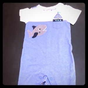 Adorable romper with a shark